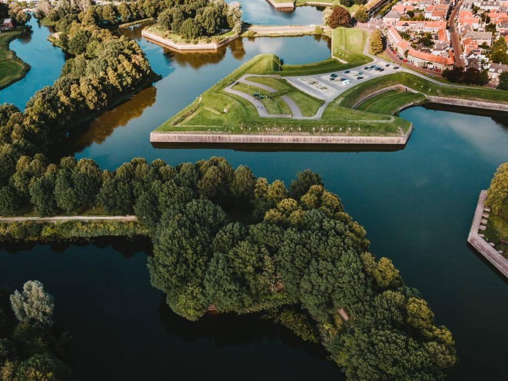 Aerial foto of Naarden-Vesting