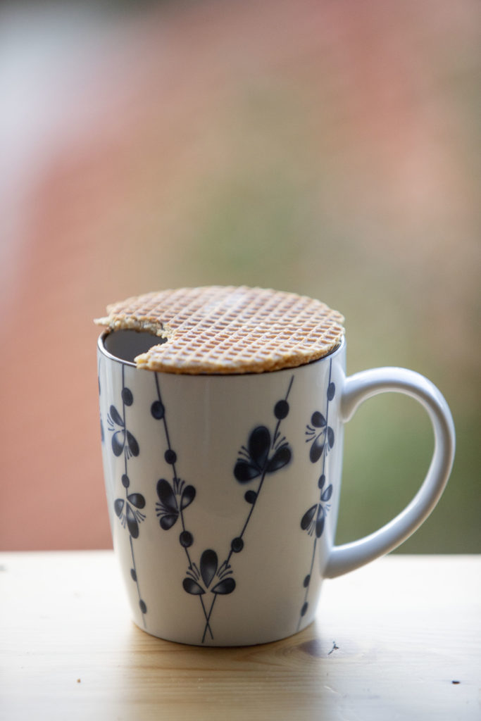 Stroopwafel on a hot drink